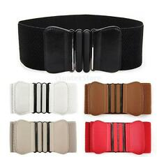 2016 Women's Vintage Metal Elastic Stretch Buckle Wide Waist Belt Waistband