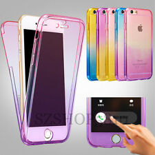 Shockproof 360° Silicone Protective Clear Case Cover For Apple iPhone 5 6 S Plus