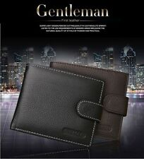 Mens Leather Bifold Credit ID Cards Holder Wallet Money Purse Billfold Gift UK
