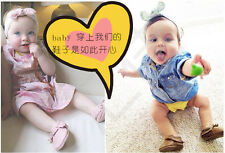 0-18 Month Lovely Baby Sole suede/Leather Shoes Infant Boy Girl Toddler Moccasin