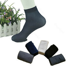 Comfortable 5/10 Pairs Men's Summer Soft Ultra Thin Antit-Odor Short Socks Gifts