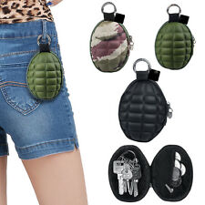 Grenade Zippered Keychain Coin Money Change Key Wallet Pocket Pouch Bag