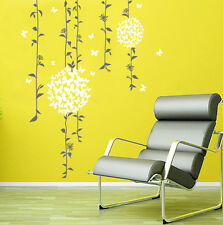 Removable Vines Flowers Vinyl Living Room Kid's Room Wall Decor Decal Stickers