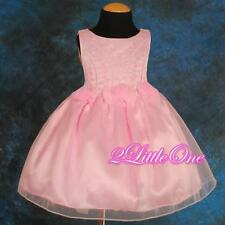 Wedding Flower Girl Dress Pageant Party Knee Length Occasion Size 18m-8 #054