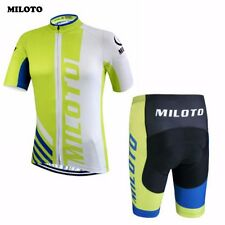 MILOTO Cycling Jerseys Bike Clothing Summer Bicycle Wear Padded Bib Shorts Sets