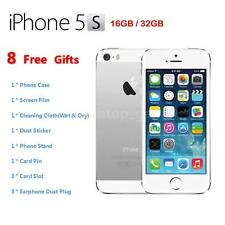 "Apple Smart Phone iPhone 5S 4G LTE Factory Unlocked 4"" 32GB/16GB Silver K1E6"