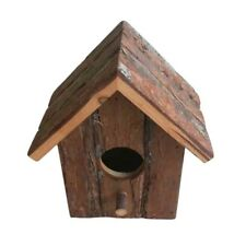 ✔ Rustic Wooden Nesting Nest Box Bird House Small Birds Blue Tit Wren Boxes ✔