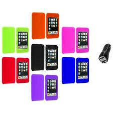 Silicone Rubber Gel Soft Case Cover+2A Charger for iPod Touch 3rd 2nd Gen 3G 2G