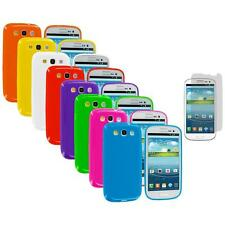 TPU Jelly Solid Case Cover+Screen Protector for Samsung Galaxy S III S3 i9300