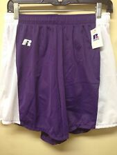 RUSSELL ATHLETIC RUNNING SHORTS 74645XK  PURPLE WITH WHITE  SM MED LG XLG
