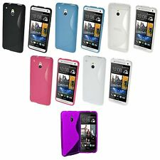 HTC ONE M7 S-LINE SILICONE GEL COVER CASE AND SCREEN PROTECTOR