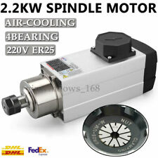 2.2KW ER25 4 Bearing CNC Air-Cooled Spindle Motor 18000rpm High Speed AC220/380V