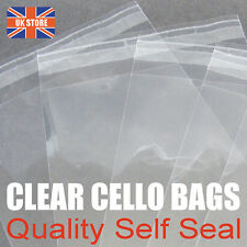 """Cello Bags for Greeting Cards C6 C5 DL A4 5 x 7"""" A3 155mm & 130mm Peel & Seal"""
