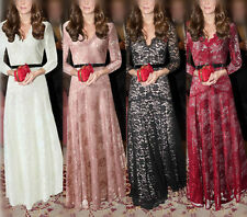 Women Lace Floral Bridesmaid Evening Formal Party Cocktail Maxi Dress Gown Prom