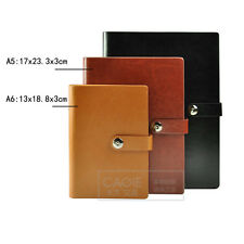 A5/A6 Loose Leaf PU Leather Notebook Diary Ruled Planner Journal Organiser Note