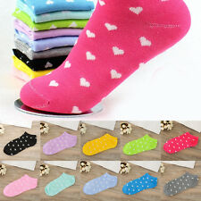 New Womens Girls Socks Lot Crew Ankle Low Cut Casual Cotton Socks 1/5/10 Pairs