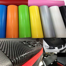 3D Carbon Fiber Vinyl Car Truck Wrap Sheet Film Sticker Decal Roll/ 20''X50""