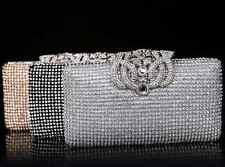 Wedding Rhinestone Crown Clutch Shoulder Crystal Bag Purse Full Rhinestones