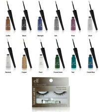 e.l.f. Natural Eyelash Kit Black w/your choice Liquid Eyeliner ELF NEW Free S&H