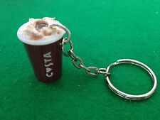 MINIATURE NOVELTY  COSTA CAPPUCCINO COFFEE DRINK KEYRING/BAG CHARM