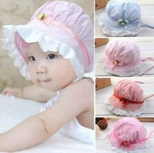 NEW 3-24 Months Girl Baby Outdoor Bucket Hats Summer Sun Beach Bonnet Beanie Cap