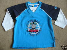BNWT ADAMS Blue Long Sleeved Thomas Top 12-18 Months
