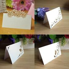 50 White Wedding Party Baby Shower Table Place Name Cards Blank Table Card Craft