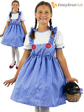 Childrens Dorothy Costume Girls Child Wizard of Oz Fancy Dress Kid Book Week Day