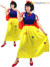 Ladies Snow White Costume Adults Fairytale Princess Fancy Dress Book Week Outfit