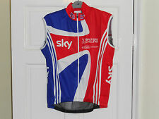 ADIDAS Team GB Rider Issue cycling bike shirt wind vest gilet Great Britain