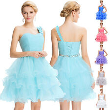 Sexy One Shoulder Short Mini Cocktail Party Dress Formal Homecoming Prom Dresses