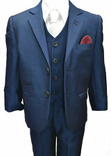 Boys Formal  Blue, Boys Suit, 3PC Page Boy Wedding,, Boys Suits 1 YEARS TO 15Y