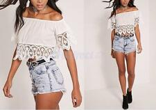 Fashion Women Lady Sexy Off Shoulder Casual Half Sleeve Slim T-Shirt Top Blouse