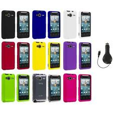 Color Hard Snap-On Case Cover+RET Charger for HTC EVO Shift 4G Phone Accessory