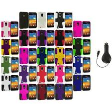 Hybrid Mesh Case Cover+RET Charger for Samsung Sprint Galaxy S2 S II Epic Touch