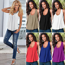Hot Sexy Girl Summer Sleeveless Loose Chiffon Vest Cool Tank T-Shirt Top Blouse