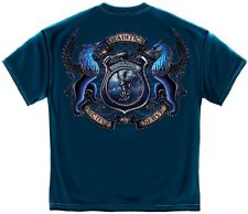 Police T-Shirt: Protect and Serve Policeman Policewoman America's Finest