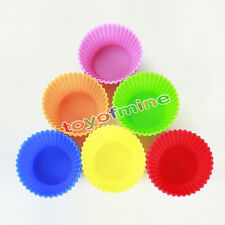 Soft Silicone Ice Muffin Cake Chocolate Liner Cupcake Baking Cup Mold Home 2pcs