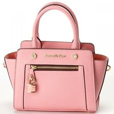 Samantha Thavasa Vega Padlock Front Zip Tote Shoulder Hand Bag Small JAPAN