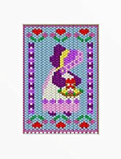MOTHERS DAY SUNBONNET~PONY BEAD BANNER PATTERN ONLY