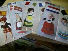 Patons National Costume Doll Knitting Pattern Your Choice Dutch/Belgian, Italy/F