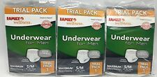 Men's Absorbent Briefs Size S-M 28-40in waist 3 pairs Disposable New