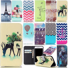 patterned mobile phone protective skin PU leather wallet case flip cover folios