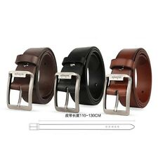 "Aojiangte Mens 100% Genuine Leather Belt 1.5"" Wide Pin Buckle Belts Waist Strap"