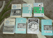 COMPLETE SEASON OF MAN MANCHESTER CITY HOME PROGRAMMES 1965-72 CHOOSE FROM LIST