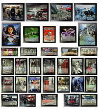A36- Framed HD 3D Iconic Art Prints Moving Pictures Buddha Harley London Animals