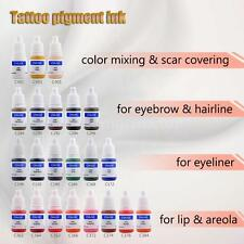 CHUSE Tattoo Pigment Permanent Makeup Color Ink Eyebrow Eyeliner Lip Hot F5P8