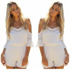 Sexy Fashion Women Jumpsuit High Waist Gorgeous Backless Playsuit Shorts Rompers