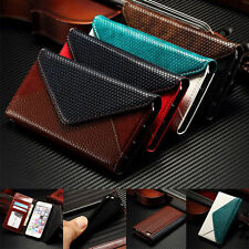 Leather Card Holder Flip Wallet  Stand Case Cover for iPhone 5s SE 6 6S Plus