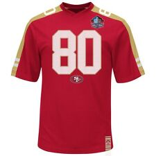 Jerry Rice #80 San Francisco 49ers NFL HOF Hashmark Jersey Mens Big & Tall Sizes